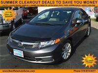 2012 Honda Civic LX AT Sedan with Sunroof, EXCELLENT GAS MILEAGE