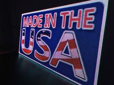 Led Sign Outdoorindoor Full Color One Sided Programmable Display 32 X 163