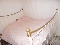 BEAUTIFUL BRASS AND METAL VICTORIAN STYLE DOUBLE BED FRAME...possible delivery