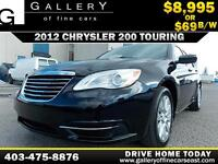2012 Chrysler 200 Touring $69 bi-weekly APPLY NOW DRIVE NOW