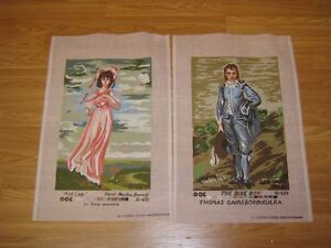 4 needlepoint canvases