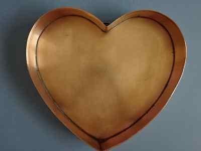"MARTHA STEWART Martha by Mail Solid Copper HEART Cake Bakeware Pan Tray 12"" X 11"