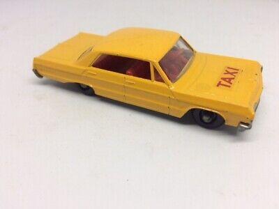 Matchbox Lesney Chevrolet Impala Taxi No 20 Red Interior
