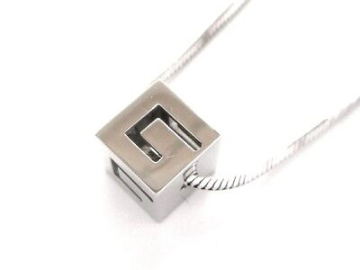 Auth GUCCI 18K White Gold Necklace