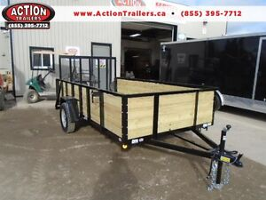 12' HIGH SIDED UTILITY TRAILER - EASY HAUL, ALL PURPOSE!