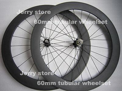 carbon wheels!60mm tubular carbon bicycle parts 700C road wheelset