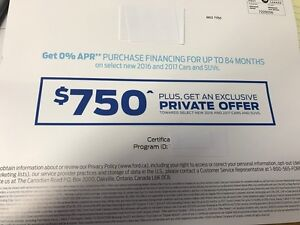 Ford $750 Certificate