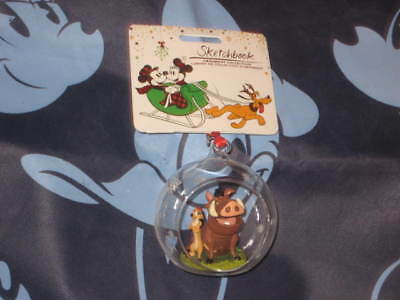 Disney Store Timon and Pumbaa Sketchbook Ornament. New. 2017.