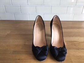LK Bennett Black Satin Shoes