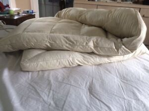 Duck feather pillow top