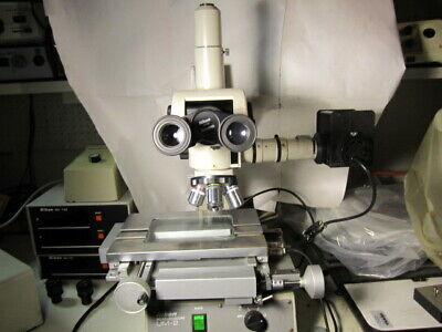 Nikon Measurescope Um-2 Measuring Microscope 02-l Stage Mc-102 Dro Box