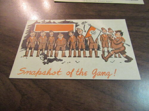 Boy Scout Post Card Snapshot of the Gang! 1947   c85