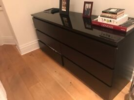Chest of Drawers, Black wood, good condition & negotiable price