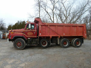 International Tri Axle Dump Truck