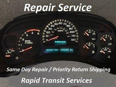 Chevrolet Silverado 2003-2006 Instrument Gauge Cluster Repair (Includes Duramax)