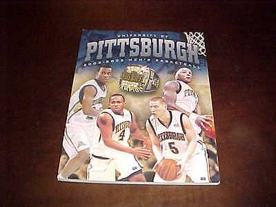 2002 Pitt Panthers Basketball Media Guide