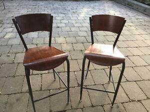 Two bar chairs for sale, plus get one more free