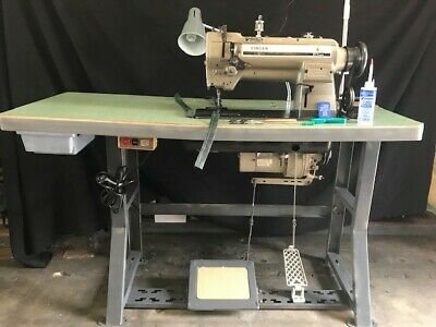 Singer 211u165a Industrial Walking Foot Sewing Machine-stand 110v Motor