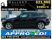 2010 BMW X3 xDrive30i $199 bi-weekly APPLY TODAY DRIVE TODAY