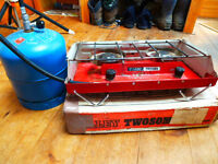 Tilley Tweosome camping stove with Camping Gaz 907 cylinder