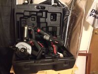 Like New 9 Piece Cordless Power Tool Set ~ Complete