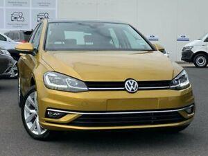 2017 Volkswagen Golf 7.5 MY17 110TSI DSG Highline Yellow 7 Speed Sports Automatic Dual Clutch Frankston Frankston Area Preview