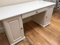 Ikea Liatorp Office Desk (White) with leather chair