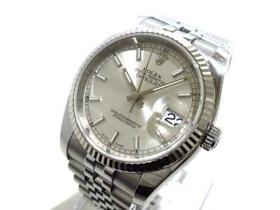 Auth ROLEX Datejust 116234 Silver, 18K White Gold 320604V0 Men