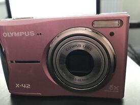 Olympus X-42 Digital Camera 12 MP 5x Optical Zoom - Pink