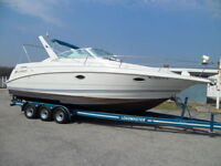 28' LARSON CABRIO CLEAN IN & OUT, WITH MATCHING TRAILER
