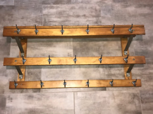 Antique School House Coat & Hat Rack
