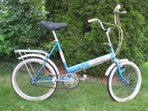 Blue Silver Fold-up Bike