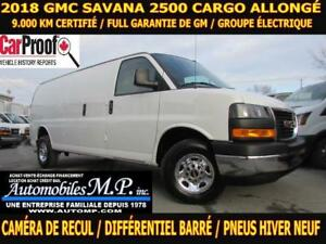 2018 GMC Savana 2500 CARGO ALLONGÉ 9.000 KM