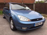 Ford Focus 1.6 i 16v Zetec 5dr (Blue) 2002