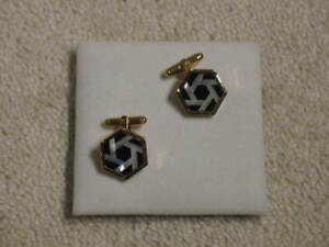Genuine mother of pearl cuff links - new - retails over $50 + tx