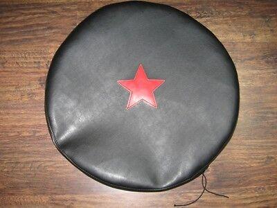 Sidecar Cover -  Handmade Sidecar Spare Wheel Cover K-750  M-72  Ural Dnepr Red Star Pattern