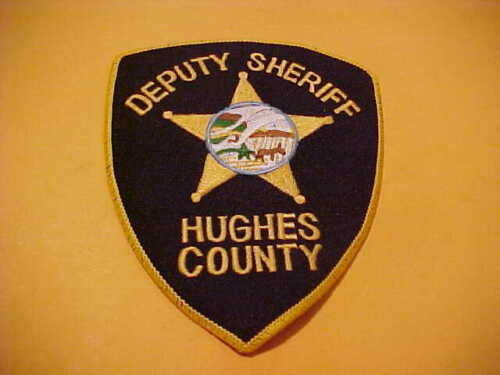 HUGHES COUNTY SOUTH DAKOTA POLICE PATCH SHOULDER SIZE USED TYPE 4