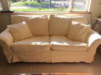 Three Seater Sofa in Light Yellow