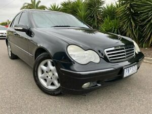 2004 Mercedes-Benz C180 W203 Kompressor Elegance Black 5 Speed Auto Tipshift Sedan