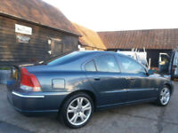 0505 VOLVO S60 2.4TD D5 TURBO DIESEL SE AUTOMATIC BLUE MET/BLACK LTHR HTD SEATS