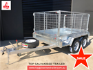 8x5 Box Trailer Hot Dip Galvanised With 900mm Cage,2000 kg ATM