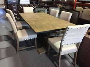 seven piece dining set, Restoration hardware look