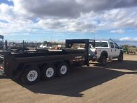 Hauling with 16' Dump trailer