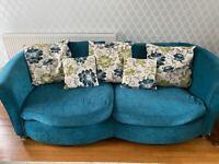 Lovely Teal Sofa
