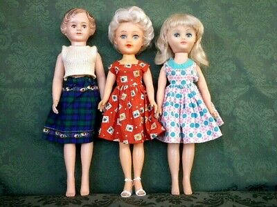 Vintage 1960s Vinyl Teen Fashion Dolls Bundle Pedigree,  Rosebud, Evergreen