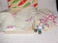 Vintage 60 yr. old Baby outfits,grouping