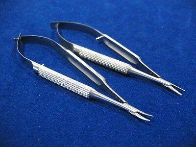 6 Castroviejo Micro Surgery Needle Holder Smooth Jaws 4 Straightcurved No Lock