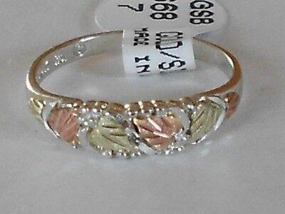 Black Hills 10 karat  Gold and Silver Women's Band Ring Size 6-7-8-9  with Box Black Hills Gold Silver Ring