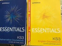 KS3 Y7-8-9 Mathematics and English Course books