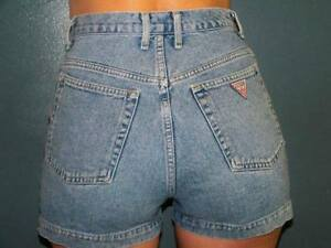 2 Guess Jeans High Waist Shorts One Blue One Black !!